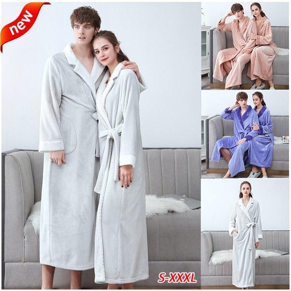 couplepajama, gowns, Fleece, unisexbathrobe