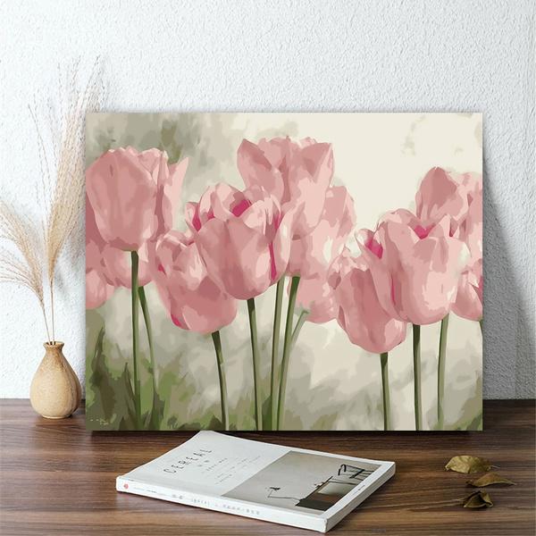 paintbynumber, Decor, Flowers, Home Decor