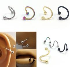 Steel, Stainless, earbonestud, circlenosestud