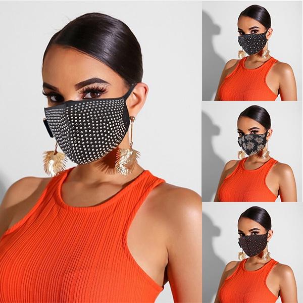 party, Cotton, womenmask, blackmask