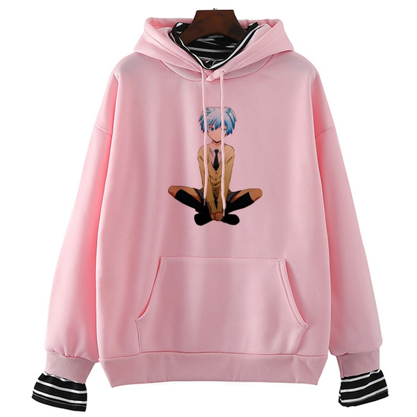 korea, streetwearwomen, Long Sleeve, anime hoodie