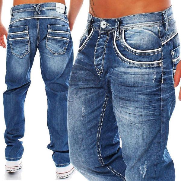 men's jeans, Plus Size, Spring/Autumn, men trousers