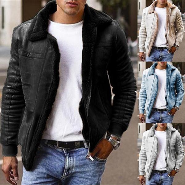 fleecelinedcoat, men coat, Plus Size, Winter