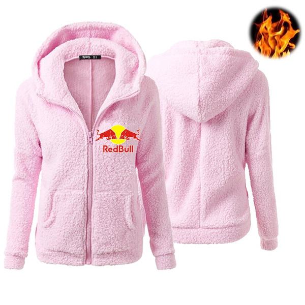 Fleece, Fashion, Winter, redbullhoodiecoat