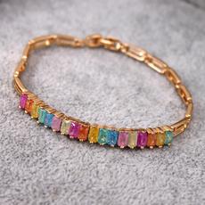 Bracelet, Fashion, gold, garnet