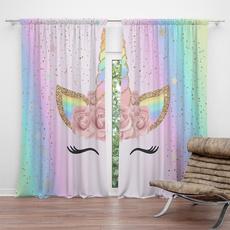 3dcurtain, rainbow, luxurycurtain, unicorn