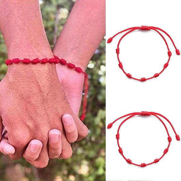amuletbracelet, handwovenbracelet, redluckybracelet, adjustablebracelet