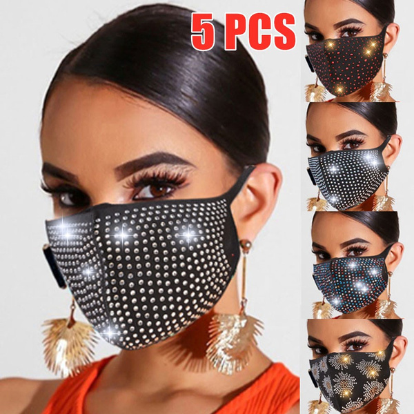 Cotton, womenmask, mouthmask, sequinmask
