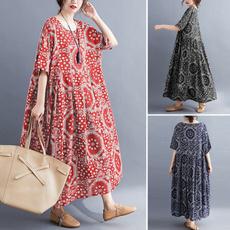 Plus Size, Floral print, Shirt, Sleeve