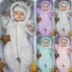 Baby, Fleece, hooded, Winter