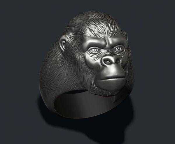 Sterling, gorillaring, roaringgorilla, wedding ring