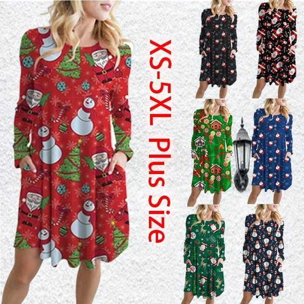 Plus Size, Christmas, Sleeve, Long Sleeve