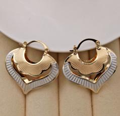 Heart, Heart Shape, Fashion, gold plated earrings