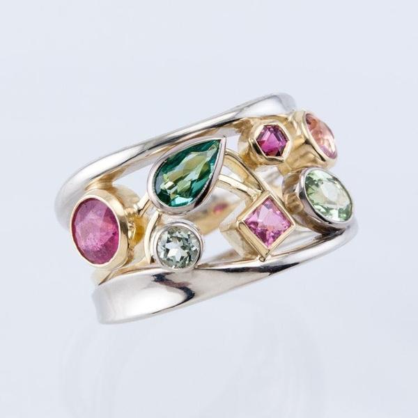 multitonering, Fashion, wedding ring, 925 silver rings