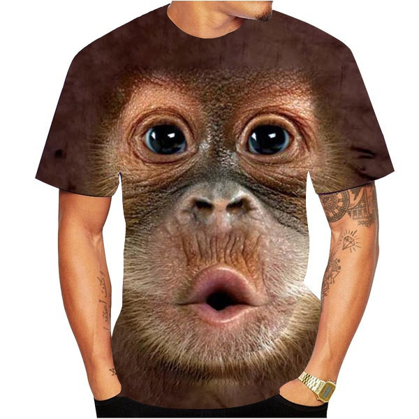 Mens T Shirt, Funny T Shirt, 3dmentshirt, monkey