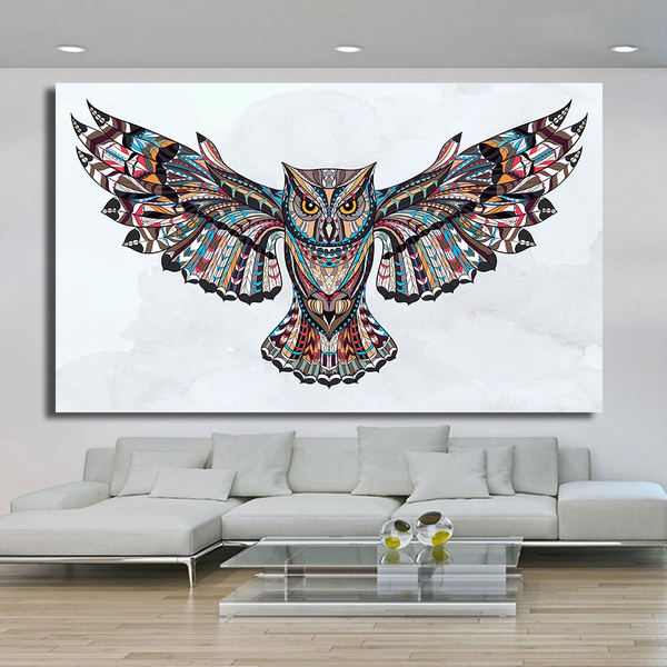 Owl, Wall Art, Home, canvaspainting