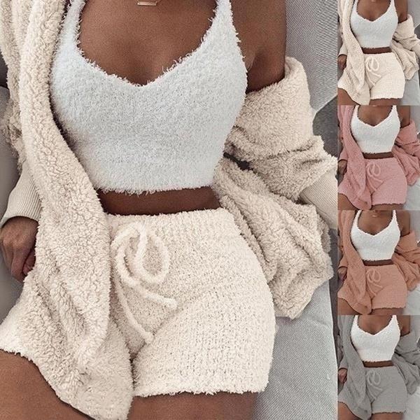 womensleepwear, hooded, Winter, cute