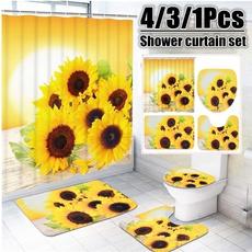 Bath, Shower, Bathroom, Flowers