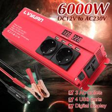 3acoutlet4usbpowerinverter, 6000weu12v220vcarinverter, 12v220vinverter, 6000wfrequencypowerinverter