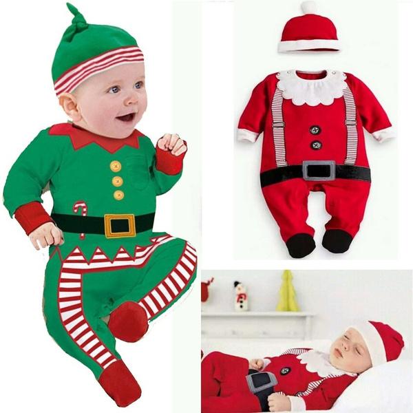 cute, Christmas, babysantaclause, christmasromper