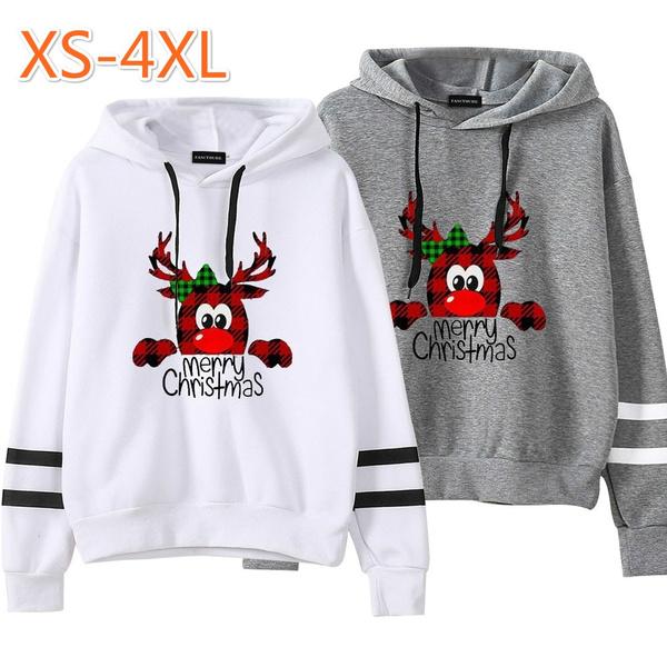 plaid, pullover hoodie, Deer, Tops