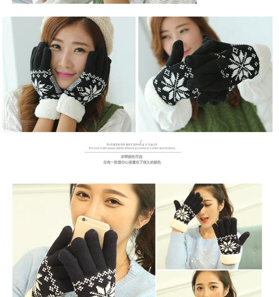 fullfingerglove, Thicken, Touch Screen, Winter