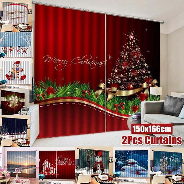 Home Decor, Christmas, Decor, printedcurtain