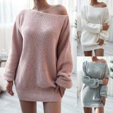 Dress, Fashion, sweater dress, lanternsleeve