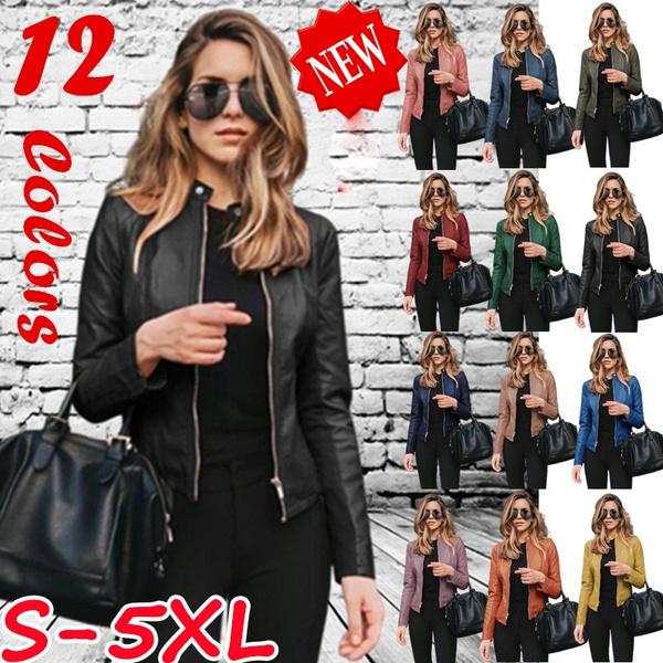Plus Size, leather, Coat, shortpuleatherclothe