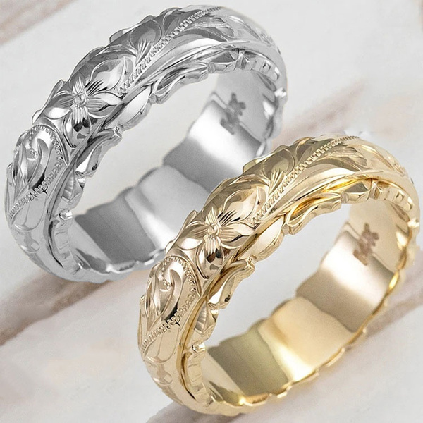 Flowers, Jewelry, 925 silver rings, rings for women