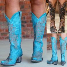 Fashion, Leather Boots, Vintage, Denim