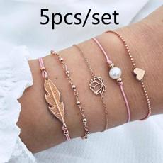 Fashion, Love, Pearl Bracelet, Chain