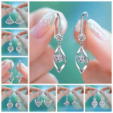 Heart, Tassels, Fashion, Dangle Earring