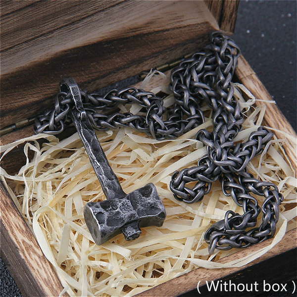 Stainless Steel, punk necklace, vikingnecklace, thorshammernecklace