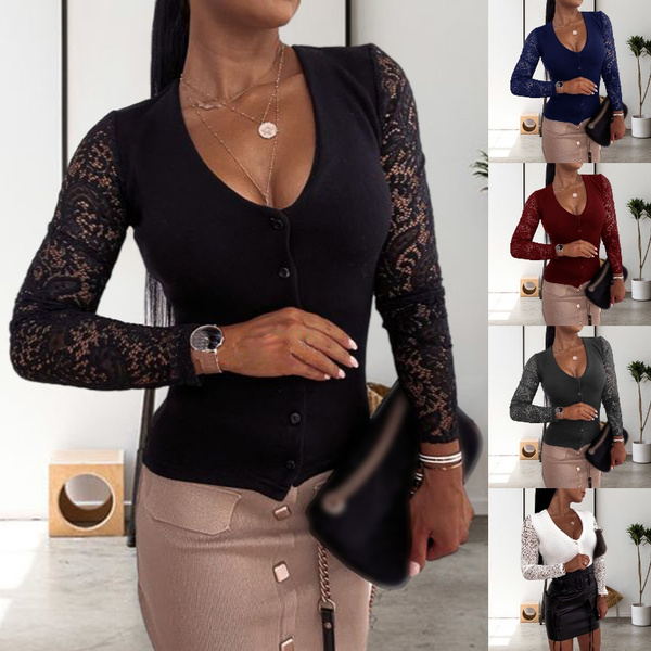 blouse, autumnwinter, Plus Size, Lace