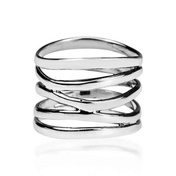 Sterling, fivebandcoilwrapring, Engagement, wedding ring