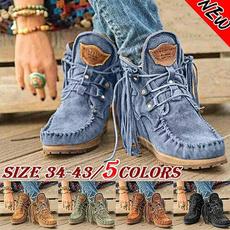 winterbootsforwomen, ankle boots, Tassels, anklebootsforwomen