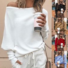 off shoulder top, Moda, Manga, pullover sweater