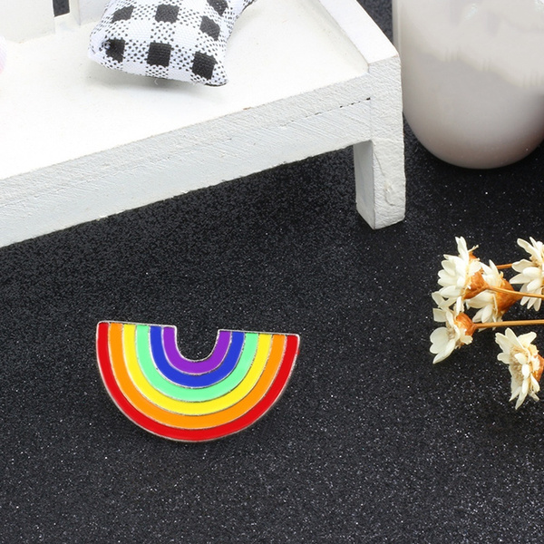 rainbow, lgbtbroochpin, Fashion, Pins