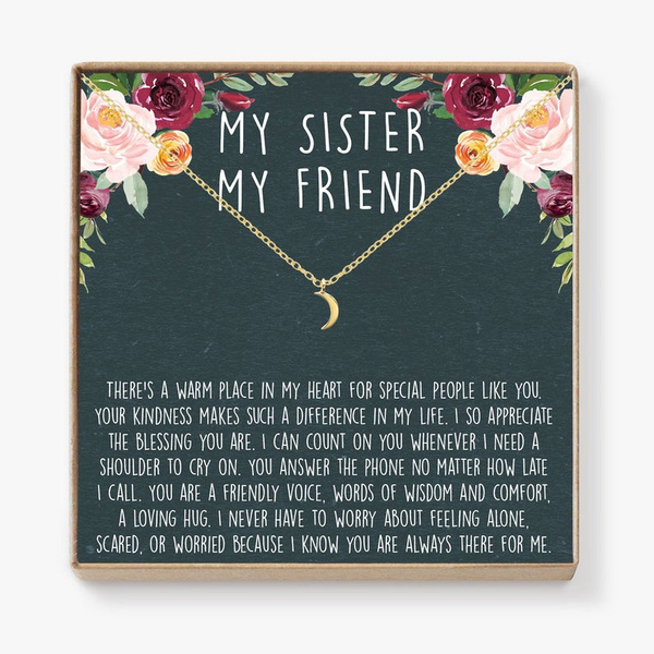 sister, sistersnecklace, friendshipgift, Gifts