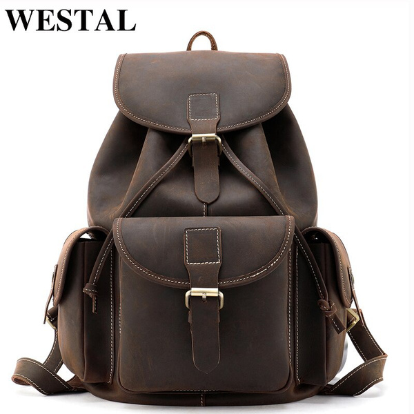 Fashion, leather, Backpacks, Men