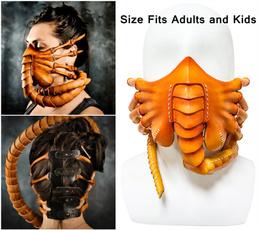 alienfacehuggerfacemask, alienmask, Cosplay, scary