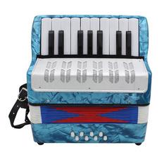 gitarre, light blue, Bass, accordion