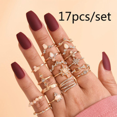 Couple Rings, crystal ring, Women Ring, 925 silver rings