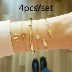 Fashion, gold bracelet, Bracelet Charm, Rhinestone