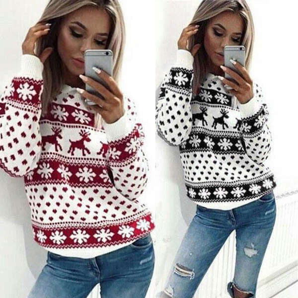 Fashion, pullover sweater, Long Sleeve, Snowflakes