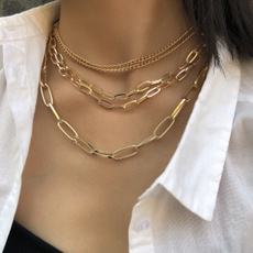 Chain Necklace, Jewelry, Chain, punk