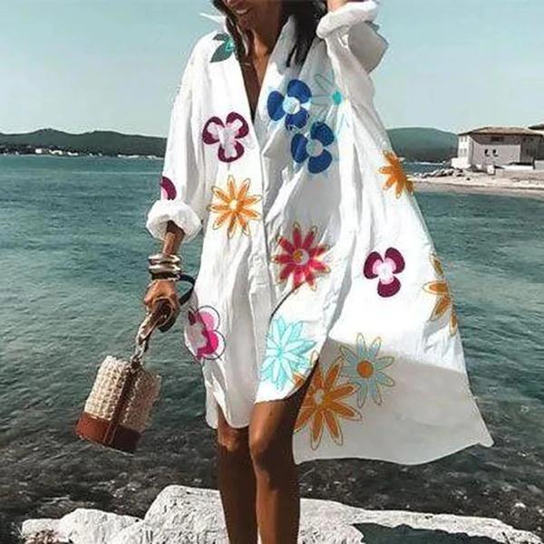 Summer, Fashion, Long Sleeve, Dress