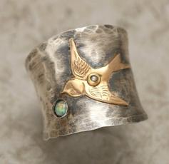 Sterling, bandrin, wedding ring, gold