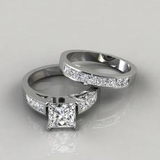 Sterling, Engagement Wedding Ring Set, Women Ring, Engagement Ring
